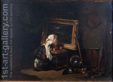 A Visit to the Studio, 1880 by Jan Mari Henri Ten Kate - Reproduction Oil Painting