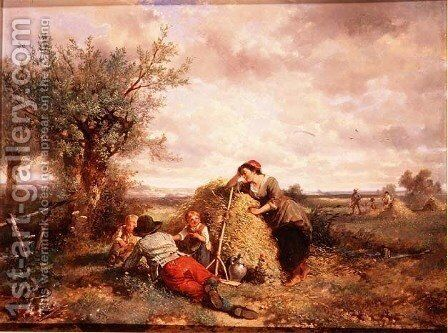 Haymaking by Jan Mari Henri Ten Kate - Reproduction Oil Painting