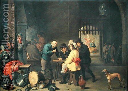 The Guard Room by David The Elder Teniers - Reproduction Oil Painting
