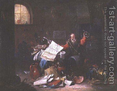 The Alchemist by David The Elder Teniers - Reproduction Oil Painting