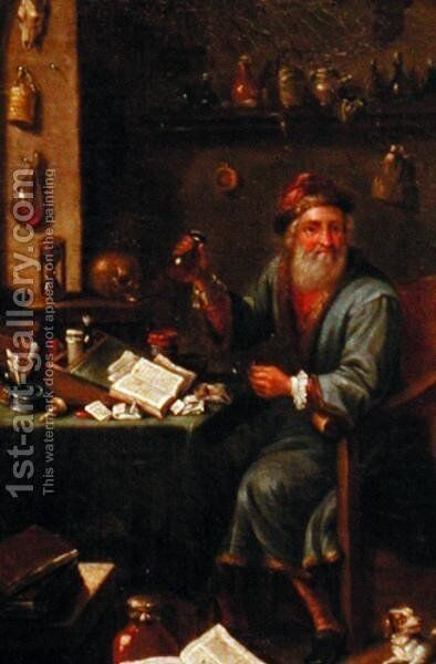 The Alchemists study 2 by David The Elder Teniers - Reproduction Oil Painting