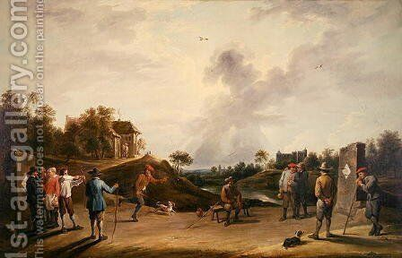 The Archery Contest by David The Younger Teniers - Reproduction Oil Painting