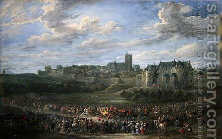 Entrance of a Princess into Brussels by David The Younger Teniers - Reproduction Oil Painting