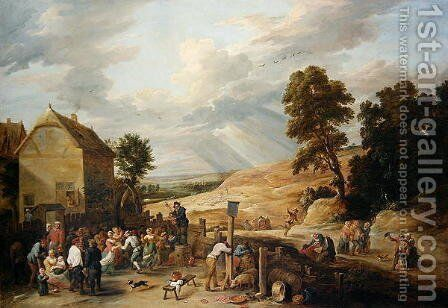 Country Dance before an Inn by David The Younger Teniers - Reproduction Oil Painting