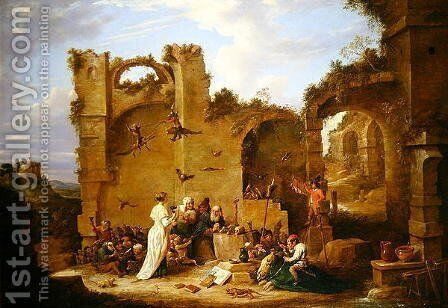 The Temptation of St. Anthony by David The Younger Teniers - Reproduction Oil Painting