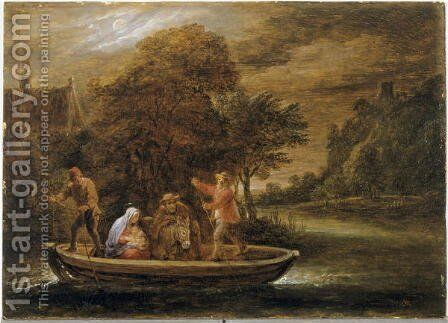 The Flight into Egypt by David The Younger Teniers - Reproduction Oil Painting