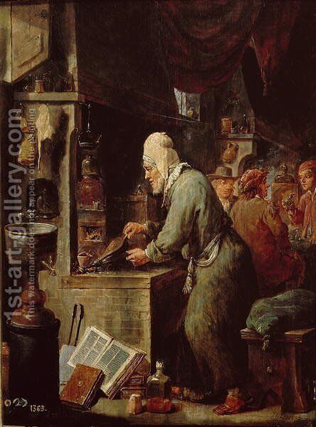 The Alchemist by David The Younger Teniers - Reproduction Oil Painting