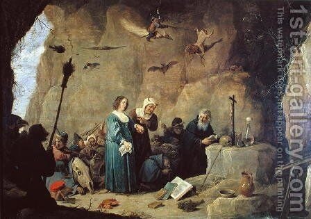 The Temptation of St. Anthony, 1820 by David The Younger Teniers - Reproduction Oil Painting