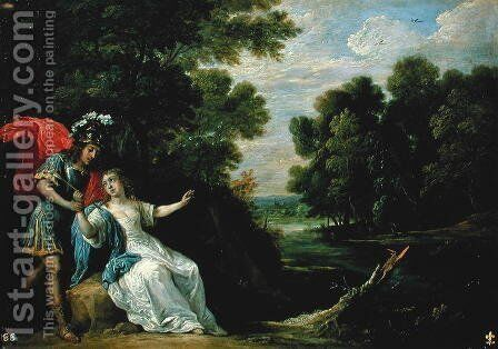 The Reconciliation of Rinaldo and Armida, 1836 by David The Younger Teniers - Reproduction Oil Painting