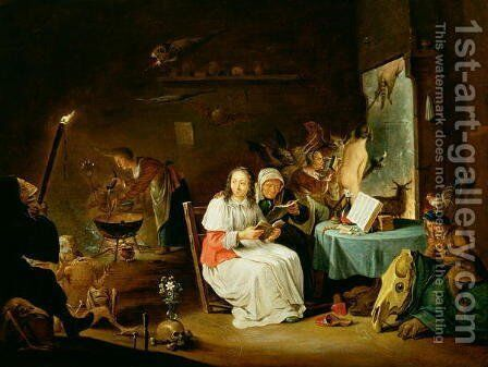Witches Preparing for the Sabbat by David The Younger Teniers - Reproduction Oil Painting