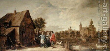 Landscape with Chateau, 1649 by David The Younger Teniers - Reproduction Oil Painting