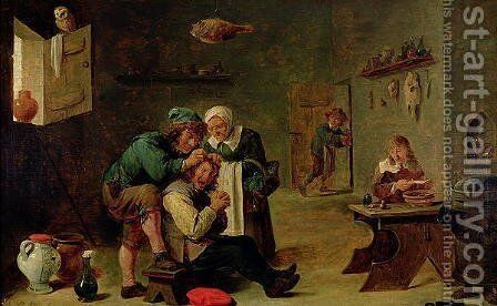 Surgical Operation by David The Younger Teniers - Reproduction Oil Painting