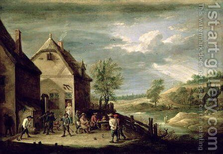 Peasants Playing Boules by David The Younger Teniers - Reproduction Oil Painting