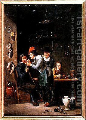 The Tooth Extractor by David The Younger Teniers - Reproduction Oil Painting