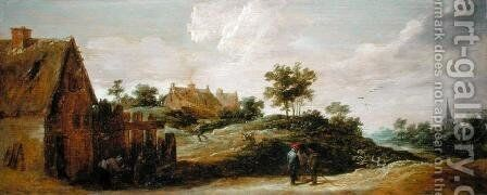 Peasants Talking on a Path by David The Younger Teniers - Reproduction Oil Painting