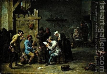 The News by David The Younger Teniers - Reproduction Oil Painting