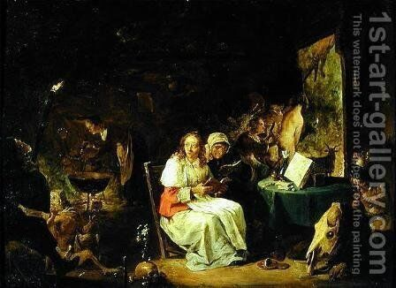 Incantation Scene by David The Younger Teniers - Reproduction Oil Painting