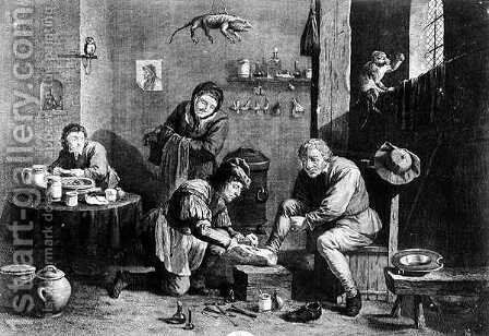 The Country Surgeon, engraved by Thomas Major 1714-99 1747 by David The Younger Teniers - Reproduction Oil Painting