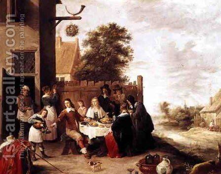 The Feast of the Prodigal Son, 1644 by David The Younger Teniers - Reproduction Oil Painting