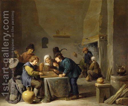 The Trick Track Players by David The Younger Teniers - Reproduction Oil Painting