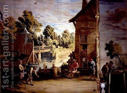 The Game of Bowls by David The Younger Teniers - Reproduction Oil Painting