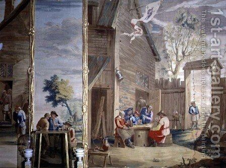 The Card Game by David The Younger Teniers - Reproduction Oil Painting