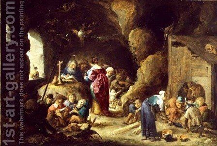 The Temptation of St. Anthony, 1634 by David The Younger Teniers - Reproduction Oil Painting
