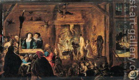 A Scene of Sorcery, 1633 by David The Younger Teniers - Reproduction Oil Painting