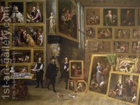 The Picture Gallery of Archduke Leopold Wilhelm 1614-61 by David The Younger Teniers - Reproduction Oil Painting