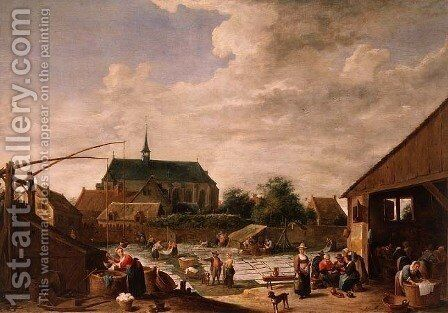The Bleaching Ground, c.1645 by David The Younger Teniers - Reproduction Oil Painting