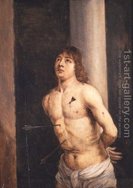 Saint Sebastian, 1651-56 by David The Younger Teniers - Reproduction Oil Painting