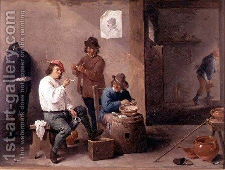 Boors Carousing, 1644 by David The Younger Teniers - Reproduction Oil Painting