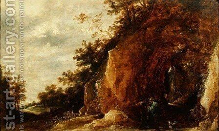 Landscape with Travellers 2 by David The Younger Teniers - Reproduction Oil Painting