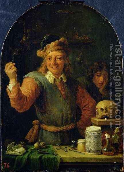 The Dentist by David The Younger Teniers - Reproduction Oil Painting