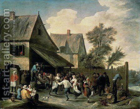 A Country Dance by David The Younger Teniers - Reproduction Oil Painting
