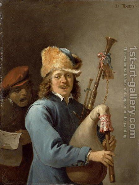 The Five Senses Series- Hearing by David The Younger Teniers - Reproduction Oil Painting