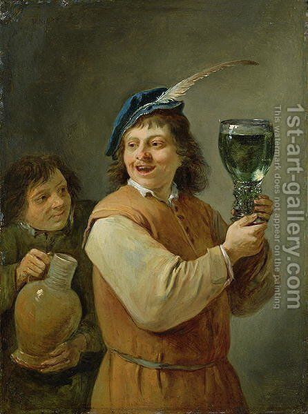 The Five Senses Series- Taste by David The Younger Teniers - Reproduction Oil Painting