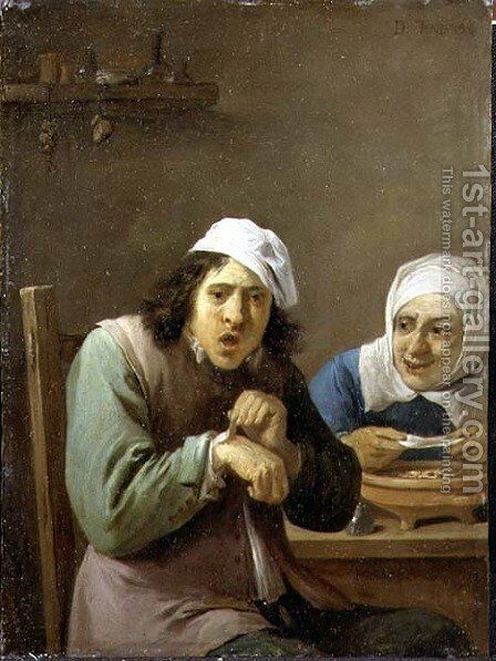 The Five Senses Series- Feeling by David The Younger Teniers - Reproduction Oil Painting