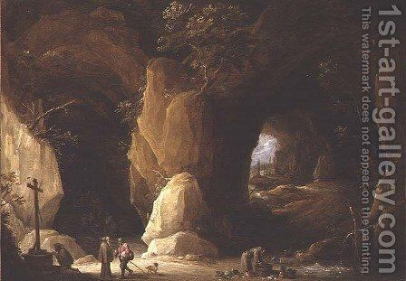 Hermits in a Cave by David The Younger Teniers - Reproduction Oil Painting
