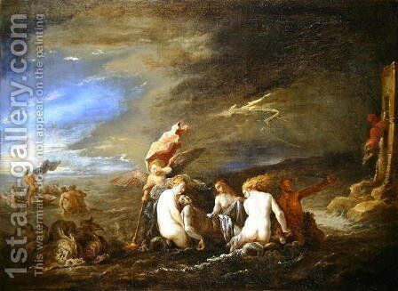 The Drowned Leander Borne by Nereids by David The Younger Teniers - Reproduction Oil Painting