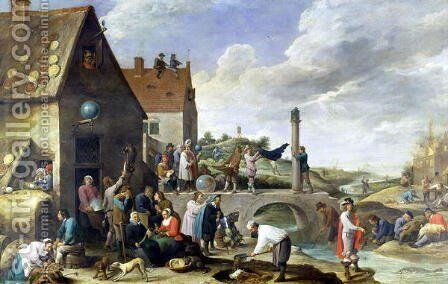 The Proverbs by David The Younger Teniers - Reproduction Oil Painting