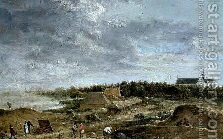 Brickmakers near Hemiksem by David The Younger Teniers - Reproduction Oil Painting