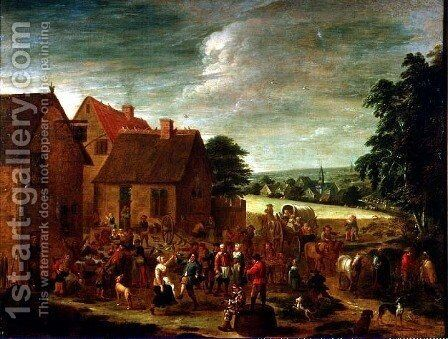 Village Celebrations by David The Younger Teniers - Reproduction Oil Painting