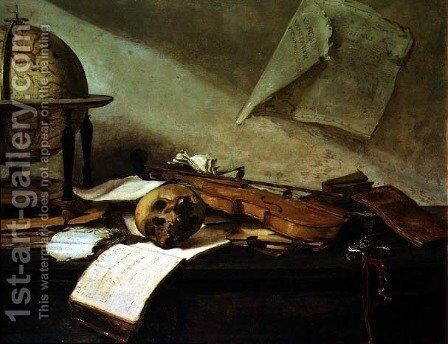 Memento Mori by David The Younger Teniers - Reproduction Oil Painting
