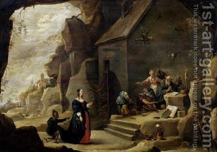 The Temptation of St. Anthony 5 by David The Younger Teniers - Reproduction Oil Painting