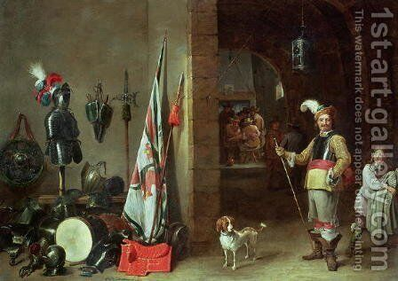 Guard Room by David The Younger Teniers - Reproduction Oil Painting