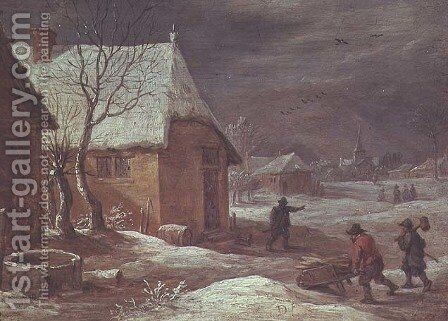 Winter by David The Younger Teniers - Reproduction Oil Painting