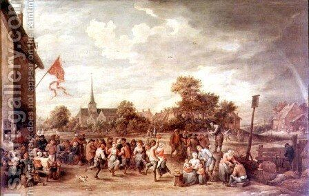 The Kermesse by David The Younger Teniers - Reproduction Oil Painting