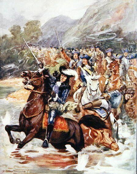 Bless the glorious memory..., illustration from Ballads of Famous Fights, c.1900 by Dudley C. Tennant - Reproduction Oil Painting