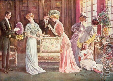 Easter Eggs in Town, 1908 by Charles Henry Tenre - Reproduction Oil Painting